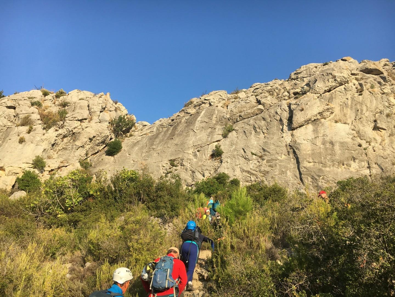 En route vers les falaise de Vingrau
